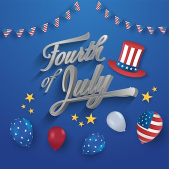 アメリカ独立記念日のコンセプト。