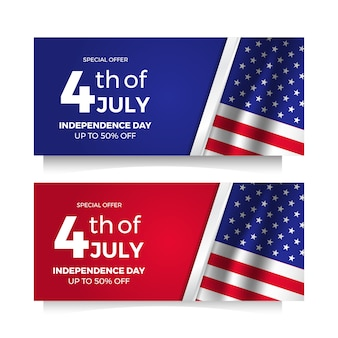 American independence day flyer sale offer