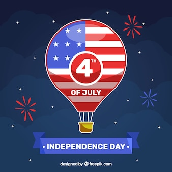 American independence day with balloon