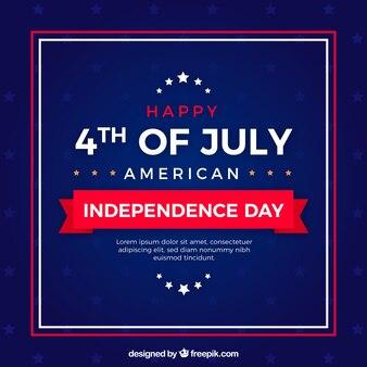 Американский день независимости с элегантным стилем