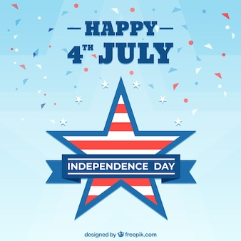American independence day with flat design