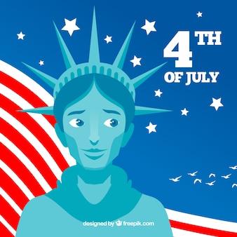 聖体拝領の像を持つアメリカの独立記念日
