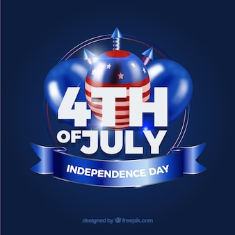 American independence day with realistic elements