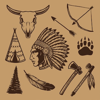 American indian element collection
