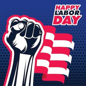 アメリカの労働者の日の背景