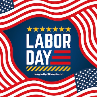 American labor day composition with flat design
