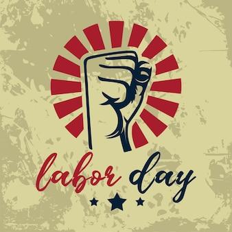 アメリカの労働者の日グランジスタイルの背景