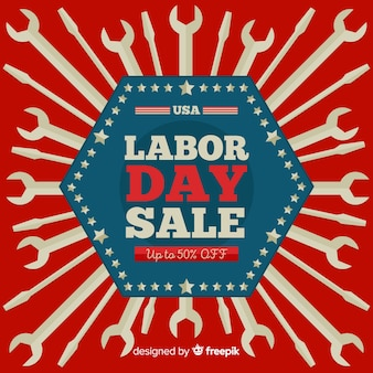 American labor day sale banner