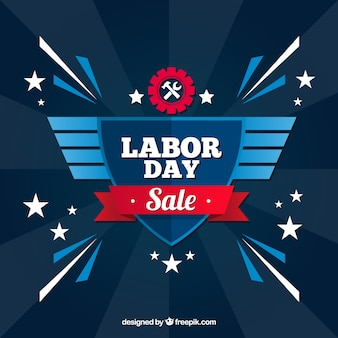 American labor day sale with flat design