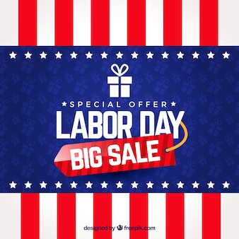 American labor day sale with realistic style