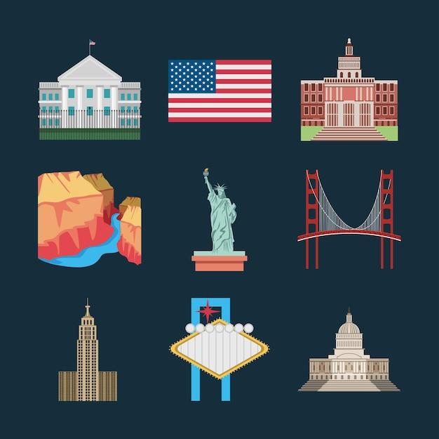 American landmark and symbols
