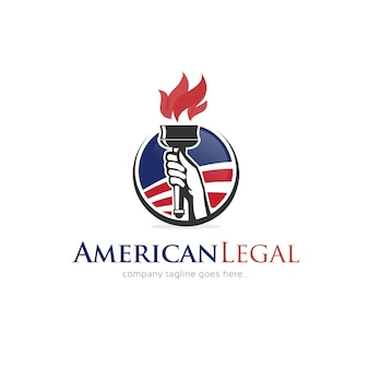 アメリカの法的ロゴのデザイン テンプレート