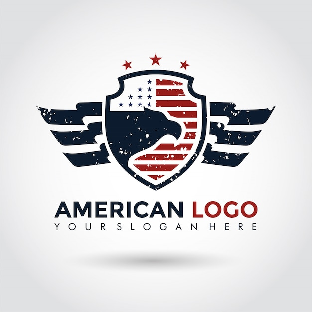 American logo template. shield and eagle.