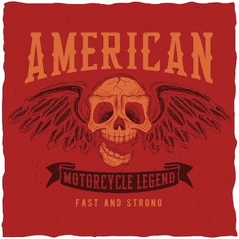 American motorcycle legend poster