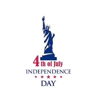 미국의 공휴일인 7월 4일. 독립 기념일 축하 배너입니다. 벡터 인사말 카드입니다.