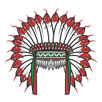 American native indian head dress