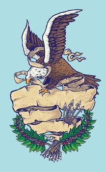 American patriotic bald eagle illustration