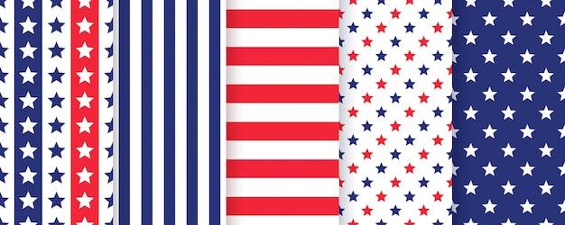 American patriotic seamless pattern.