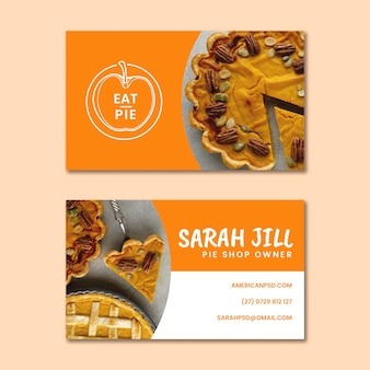 American pie business card template