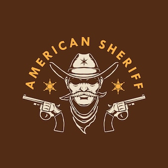 Американский дизайн логотипа шерифа