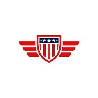 American shield emblem logo design
