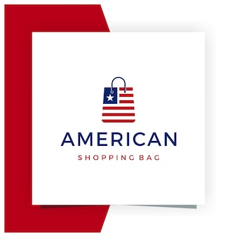 American shopping bag logo design inspiration