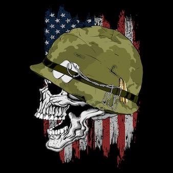 アメリカの頭蓋骨の兵士