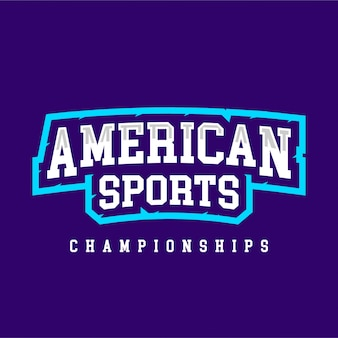 American sport championship text