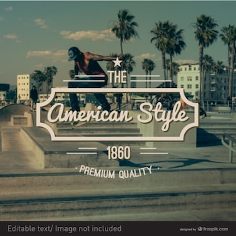 American style boarding stamp Free Vector