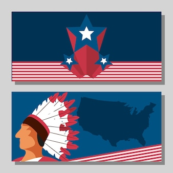 American traditional banner