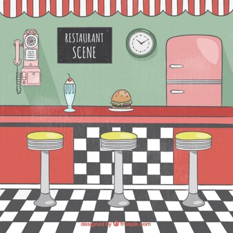 Diner Vectors Photos And Psd Files Free Download