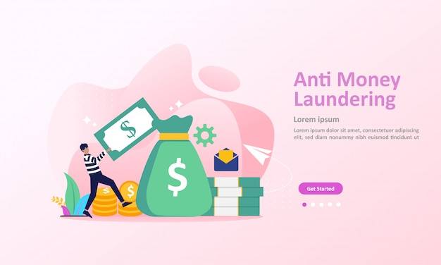 Aml, stop corruption and illegal business landing page