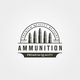 Ammunition icon logo vintage   symbol