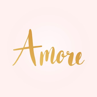 Amore italian typography style vector