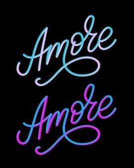 Amore lettering set