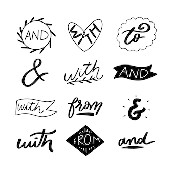 Ampersand and catchword collection