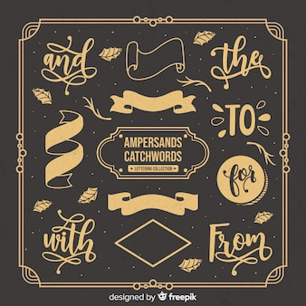 Ampersand catchwords lettering collection