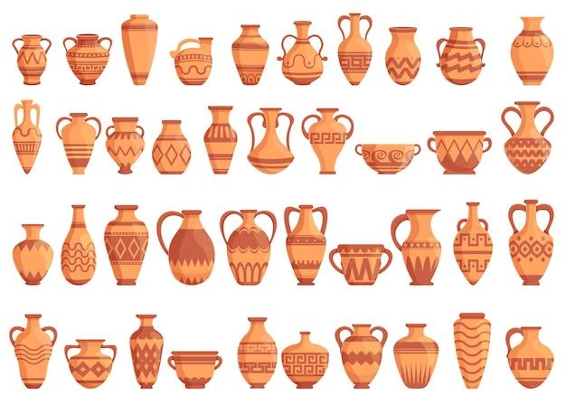 Amphoras set. cartoon set of amphoras