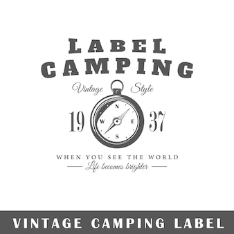 Amping 레이블 흰색 배경에 고립입니다. 디자인 요소. 로고, 간판, 브랜딩 디자인을위한 템플릿입니다.