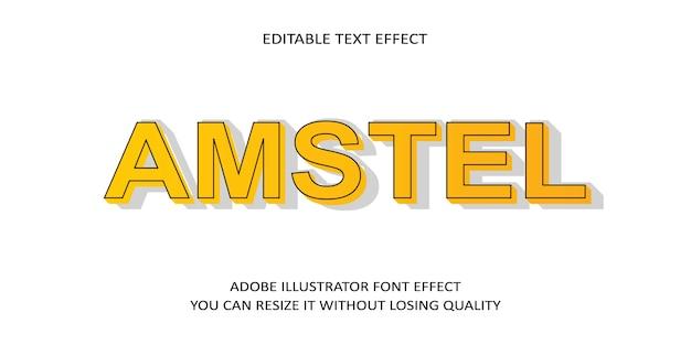 Amstel text font effect