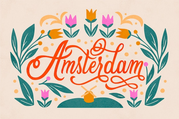 Amsterdam city lettering