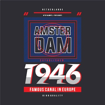 Amsterdam grahic t shirt design