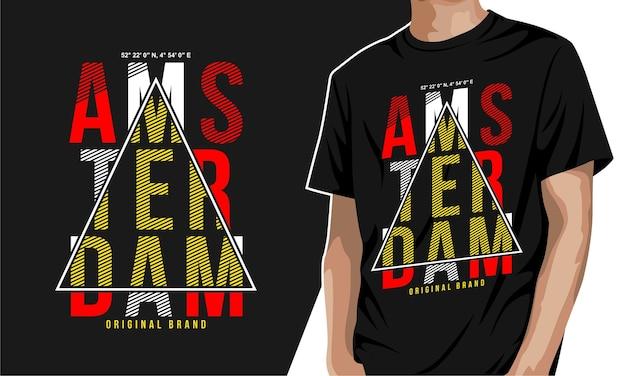 암스테르담 인쇄용 그래픽 티셔츠