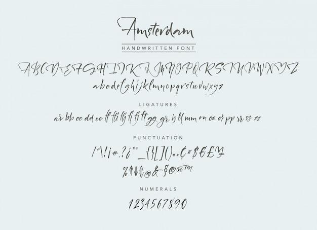 Амстердамский рукописный шрифт