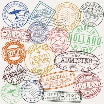 Amsterdam holland postal passport quality stamp