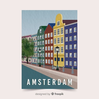 Amsterdam promotional poster template