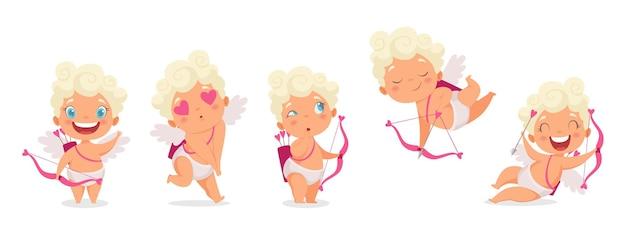Амурские младенцы. забавный купидон, ангелочки или бог эрос.