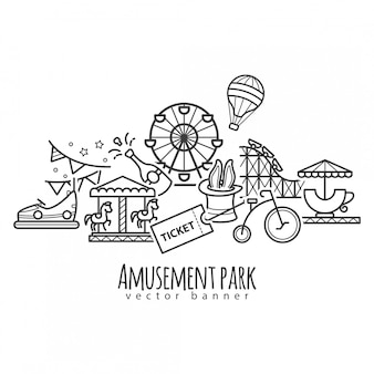Amusement park, attraction  icons
