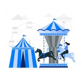 Иллюстрация концепции парка развлечений