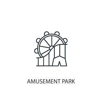 Amusement park concept line icon. simple element illustration. amusement park concept outline symbol design. can be used for web and mobile ui/ux